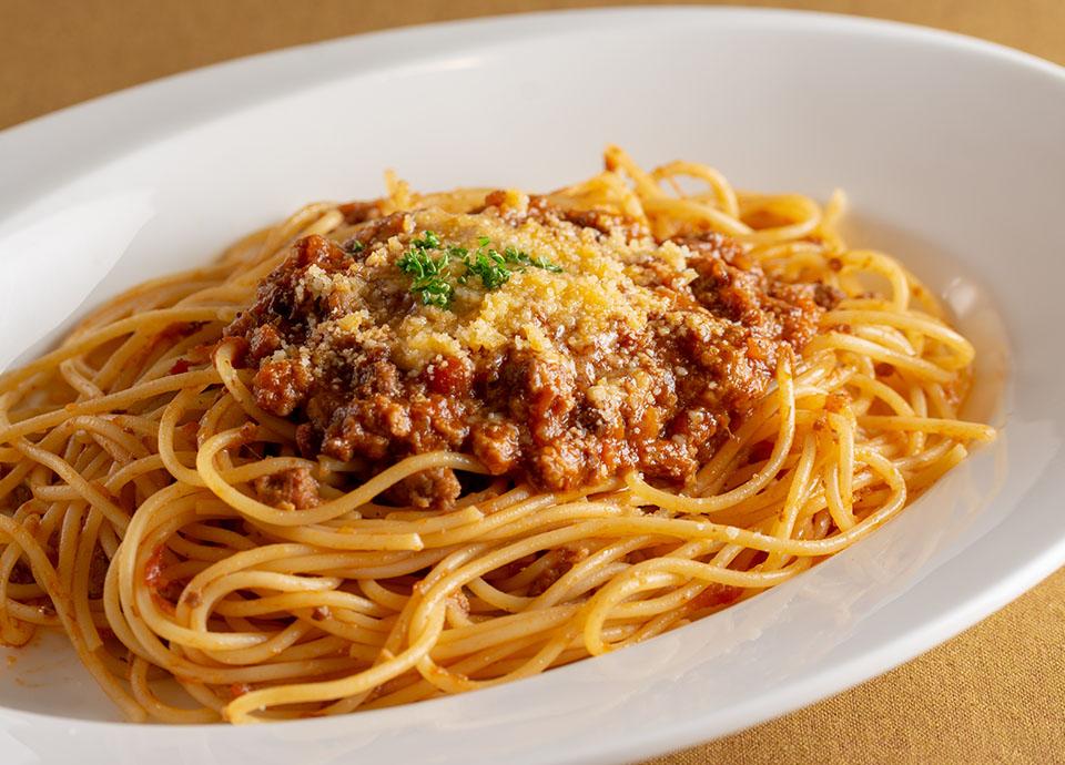 「レストラン アイリス」5月復刻メニュー:国産牛肉のミートソース スパゲッティ