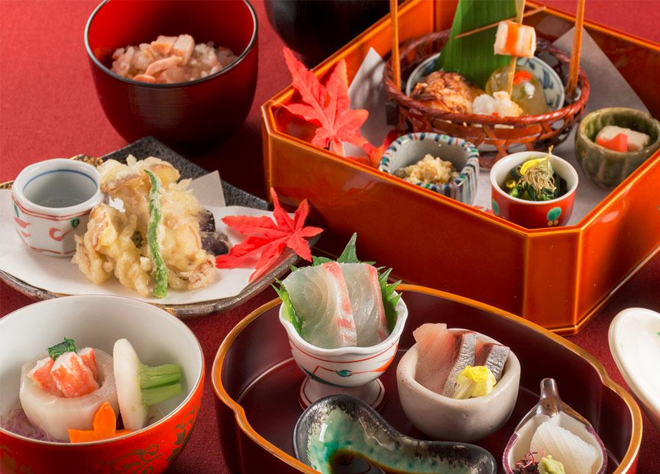 【2食付き】「和食処 梅林」季節の会席料理付プラン