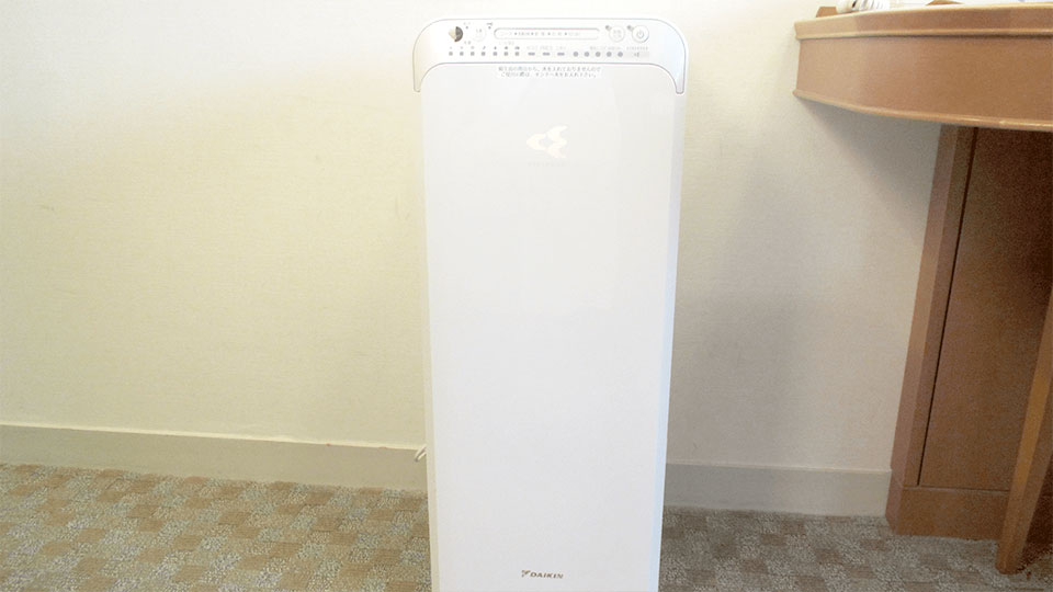 全室空気清浄機(加湿器付)完備
