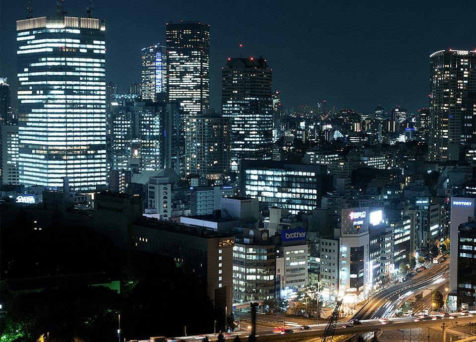 眼下に広がる東京の夜景